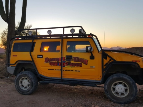 h2 in the az desert sunset