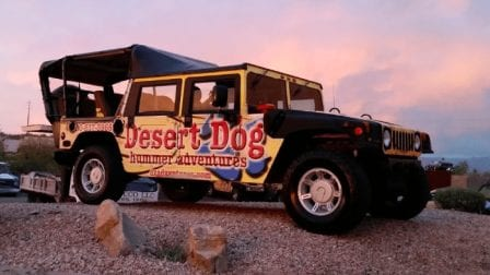 yellow h1 hummer sunset tour