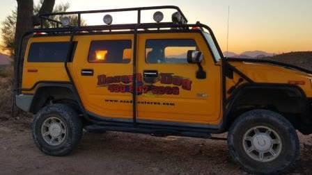 h2 in the az desert sunset